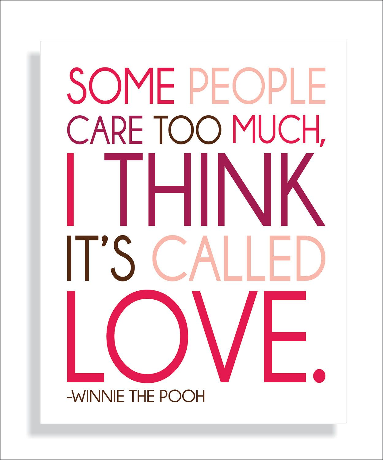 Love Art Quotes Fieldandflower Pooh Bear Quote About Love Art Print8X10