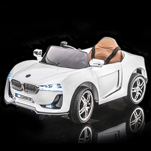 Sportrax Bmw I8 Style Kids Ride On Car Battery Powered Remote Control Wfree Mp3 Player White Kids Ride On Car Super Cars