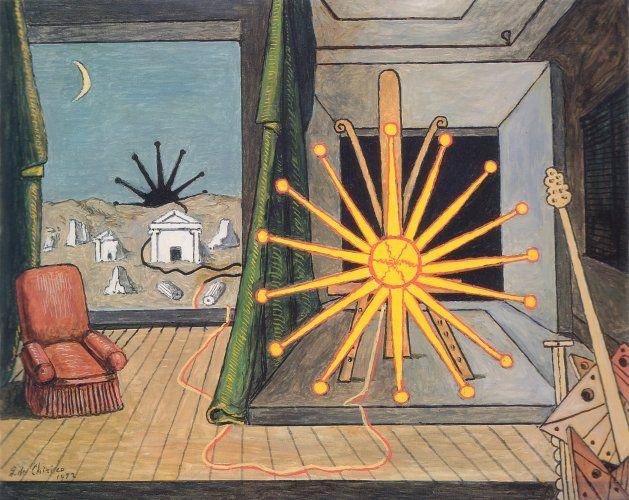 De Chirico - sole su cavalletto 1972