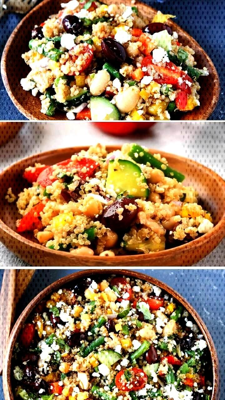 Three Bean Quinoa Salad Mediterranean Three Bean Quinoa Salad  Super Simple Mac amp Cheese Italian S