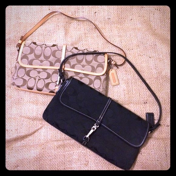 Bundled coach clutches Listed separately you can also bundle them for a lower price! Perfect gifts or additions to your own collection. Excellent condition, like new. Coach Bags Clutches & Wristlets
