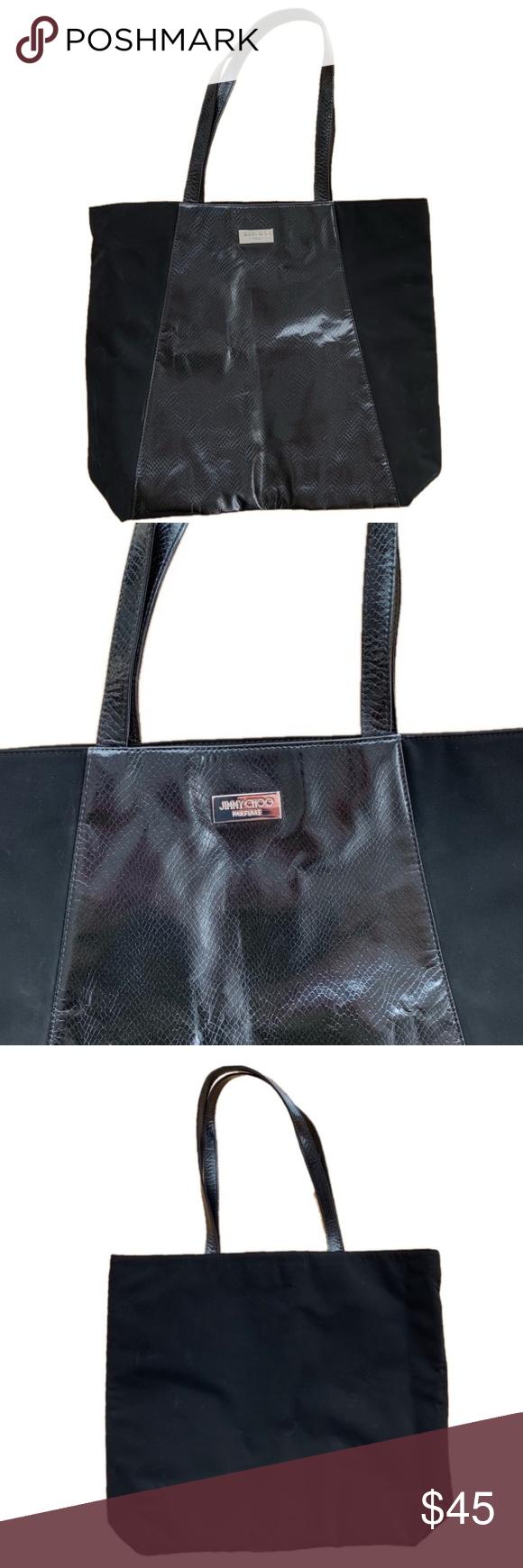 Jimmy Choo Parfums Black Tote Bag Black Tote Black Tote Bag Jimmy Choo