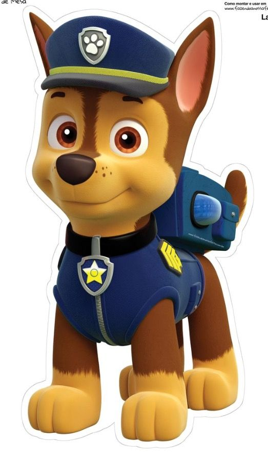 354b80b28 Same with Chase! Print, laminate, cut and glue! Voila! | paw patrol ...