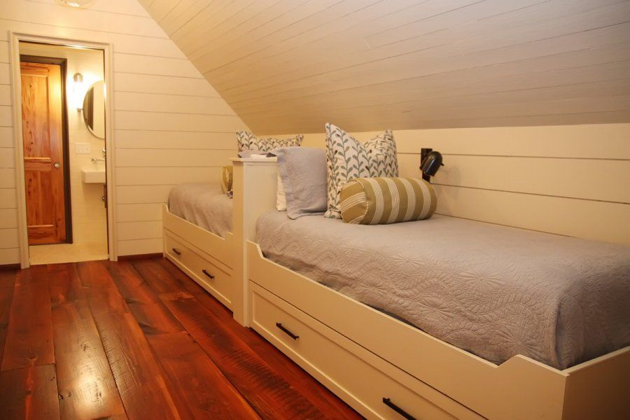 Attic Bunk Room Lake House Inspiration Built In Bed