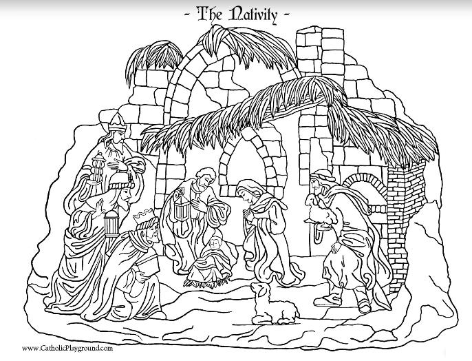 Nativity Coloring Page Nativity Coloring Pages Coloring Pages Nativity Coloring