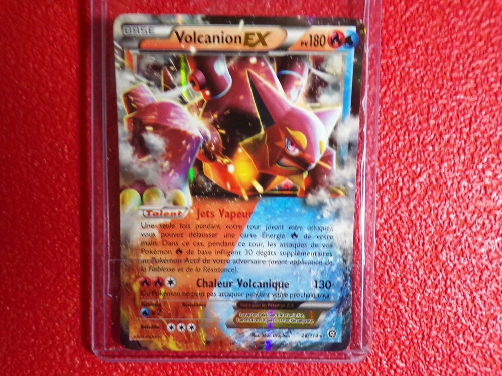 Carte Pokemon Volcanion Ex 26 114 Francaise Tbe Sous Sleeve