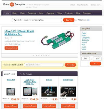 Price Compare Wordpress Theme Wordpress Price Comparison - product comparison template word