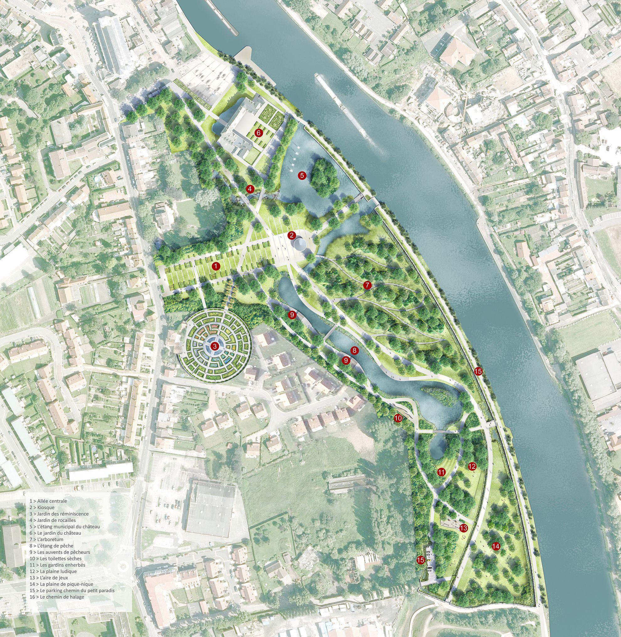 Plan Masse Rendu Sur Le Parc De Wambrechies Plan Masse