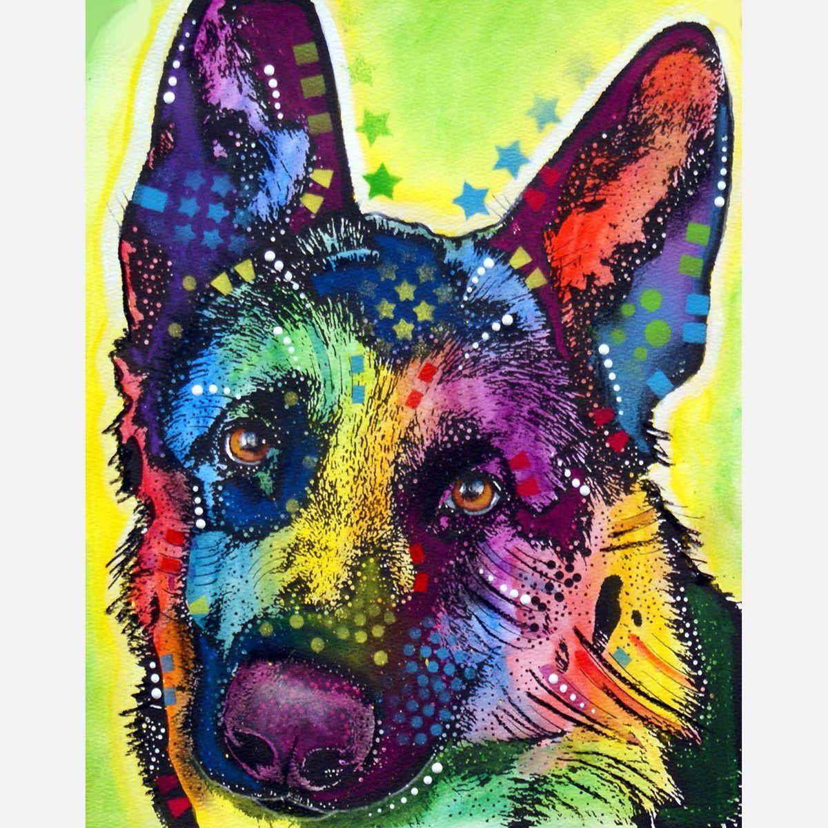 German Shepherd Canvas Print By Dean Russo