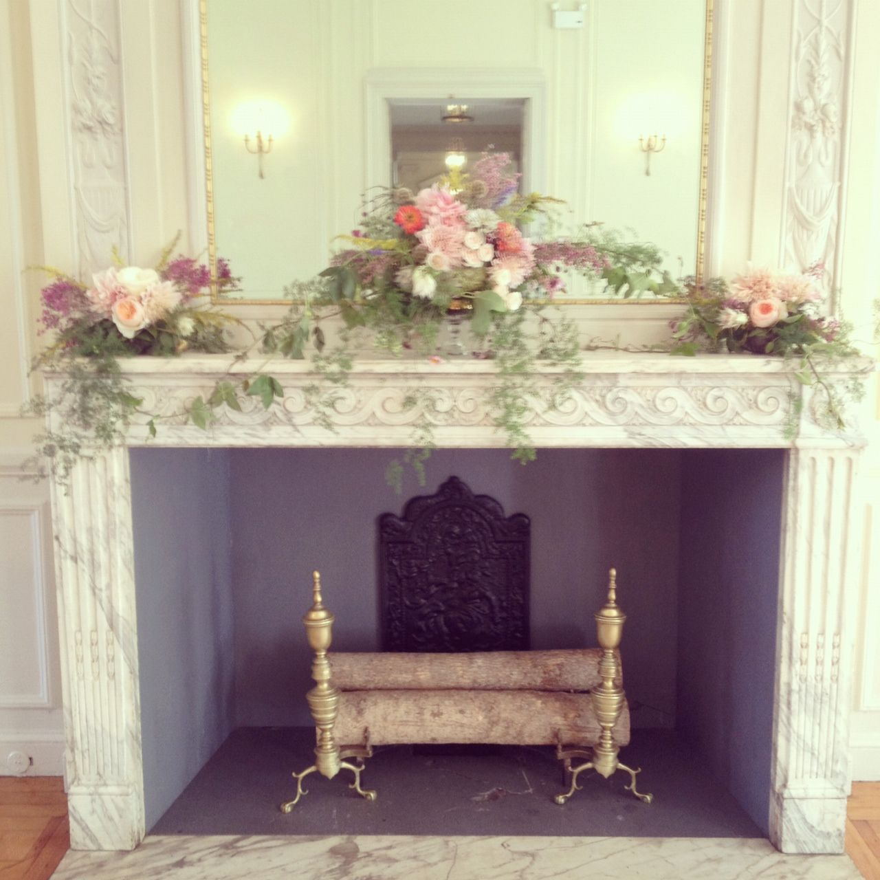Mantle Wedding Altar: Wedding Fireplaces - Google Search