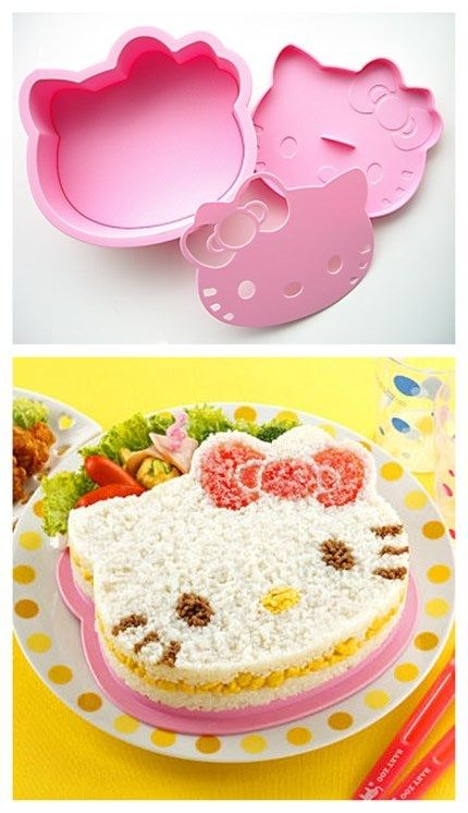 Hello Kitty cake mould zzkkocom Awesomeness Pinterest