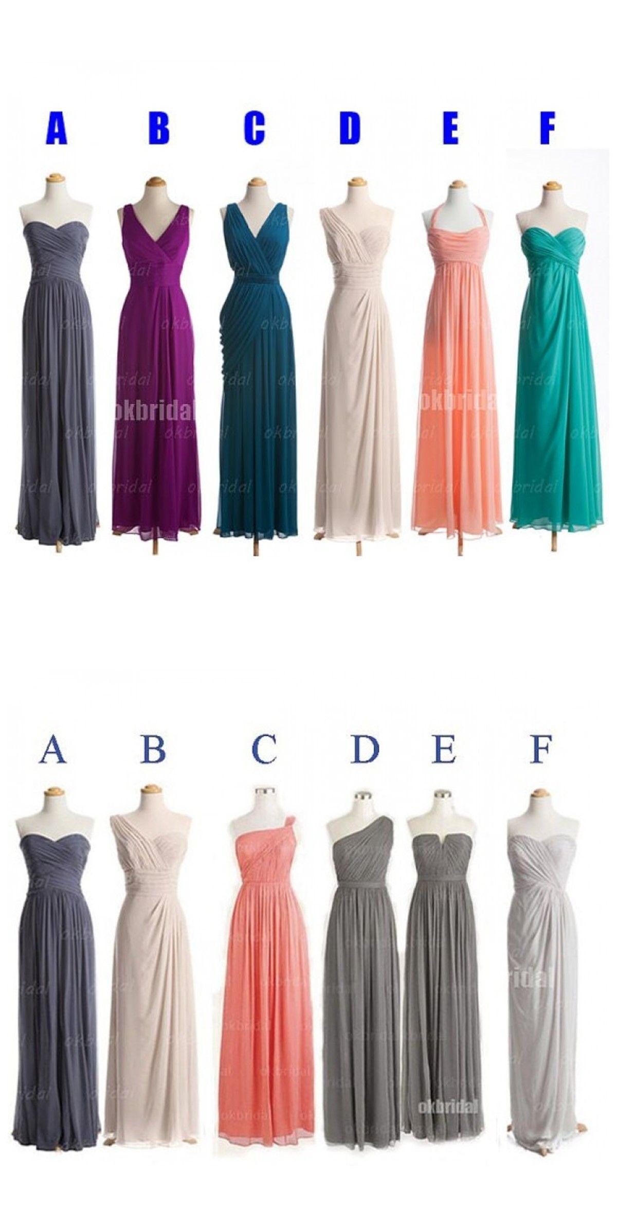 Chiffon bridesmaid dresses cheap bridesmaid dress prom dress