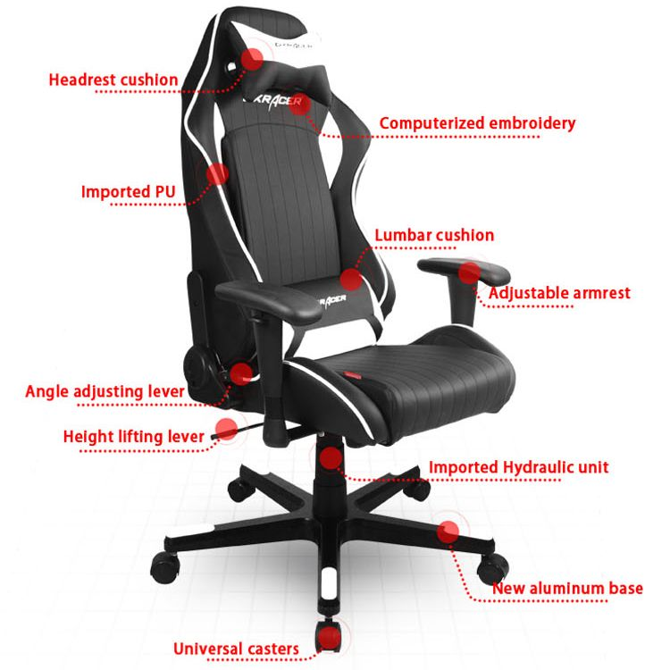 white luxury office chair. Dxracer Luxury Office Executive Chair DF51NW $389 Black And White. #gta5 #gtav White
