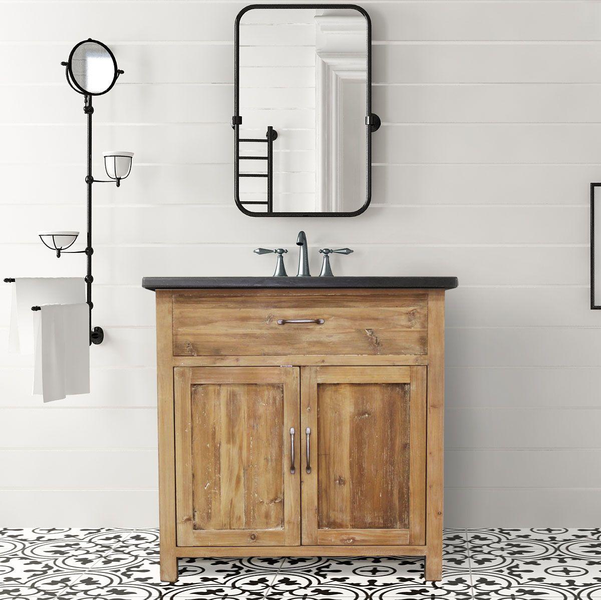 36 Woodland Bluestone Natural Pine Antique Bathroom Vanity Bathroom Vanity Bathroom Vanities For Sale