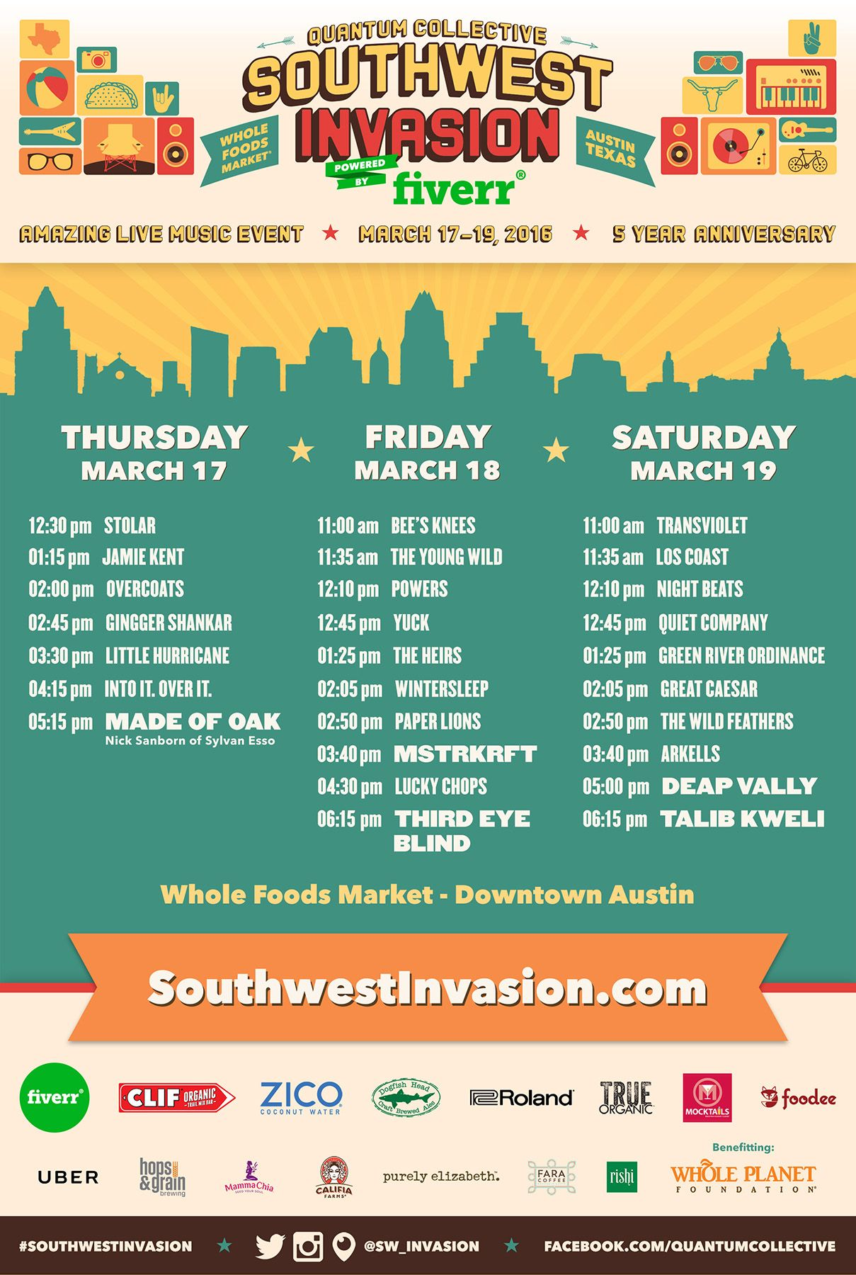 Quantum Collective Southwest Invasion 2016 at Whole Foods - March 17