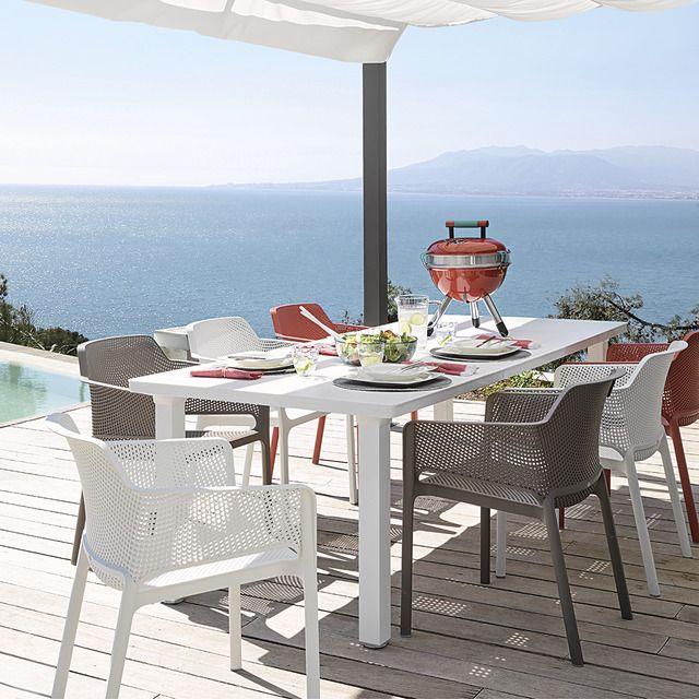 Colección de comedor de exterior mesa Levante y sillas Net
