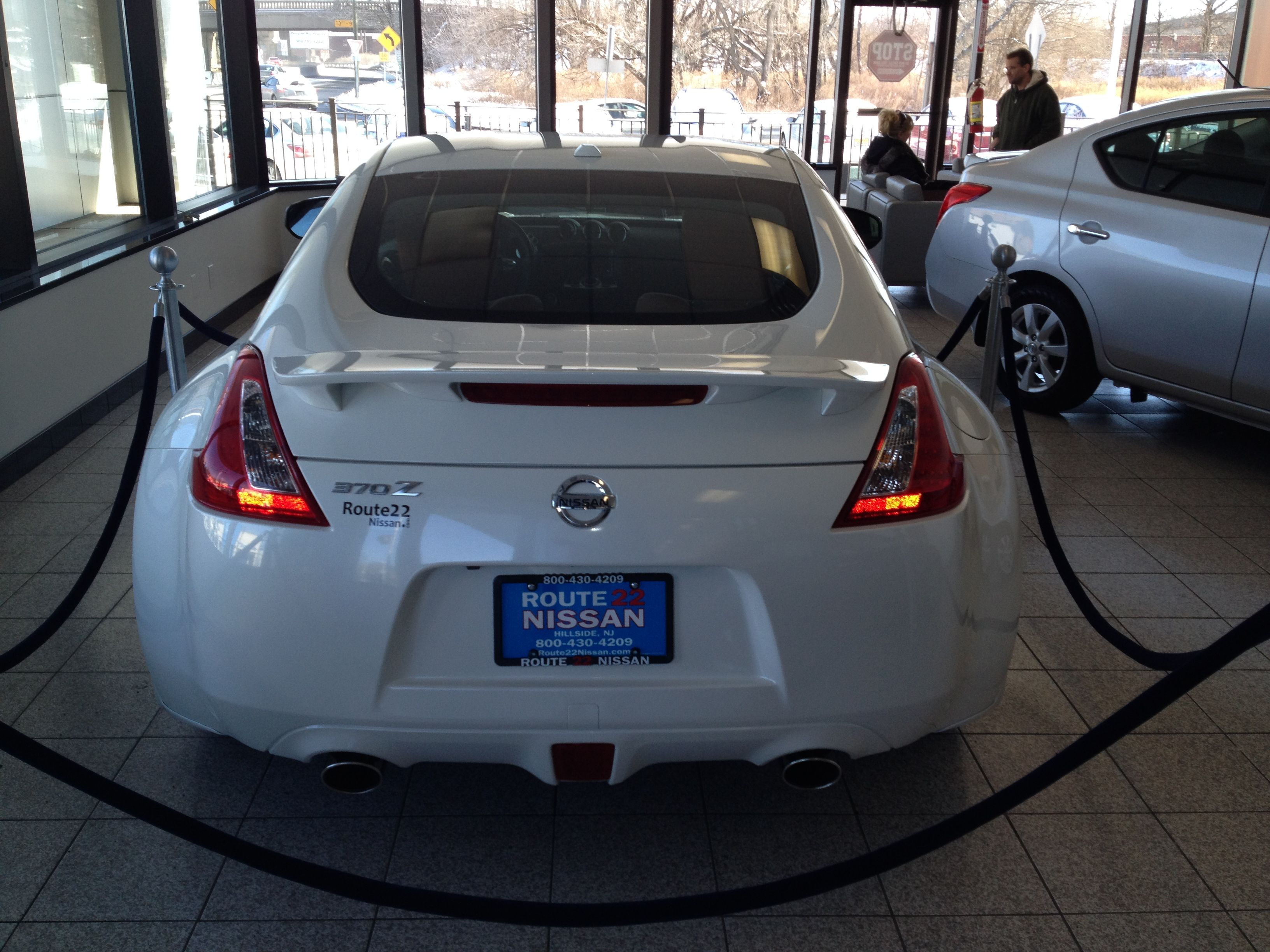 Reserved in the back for that special customer e Nissan 370 Z