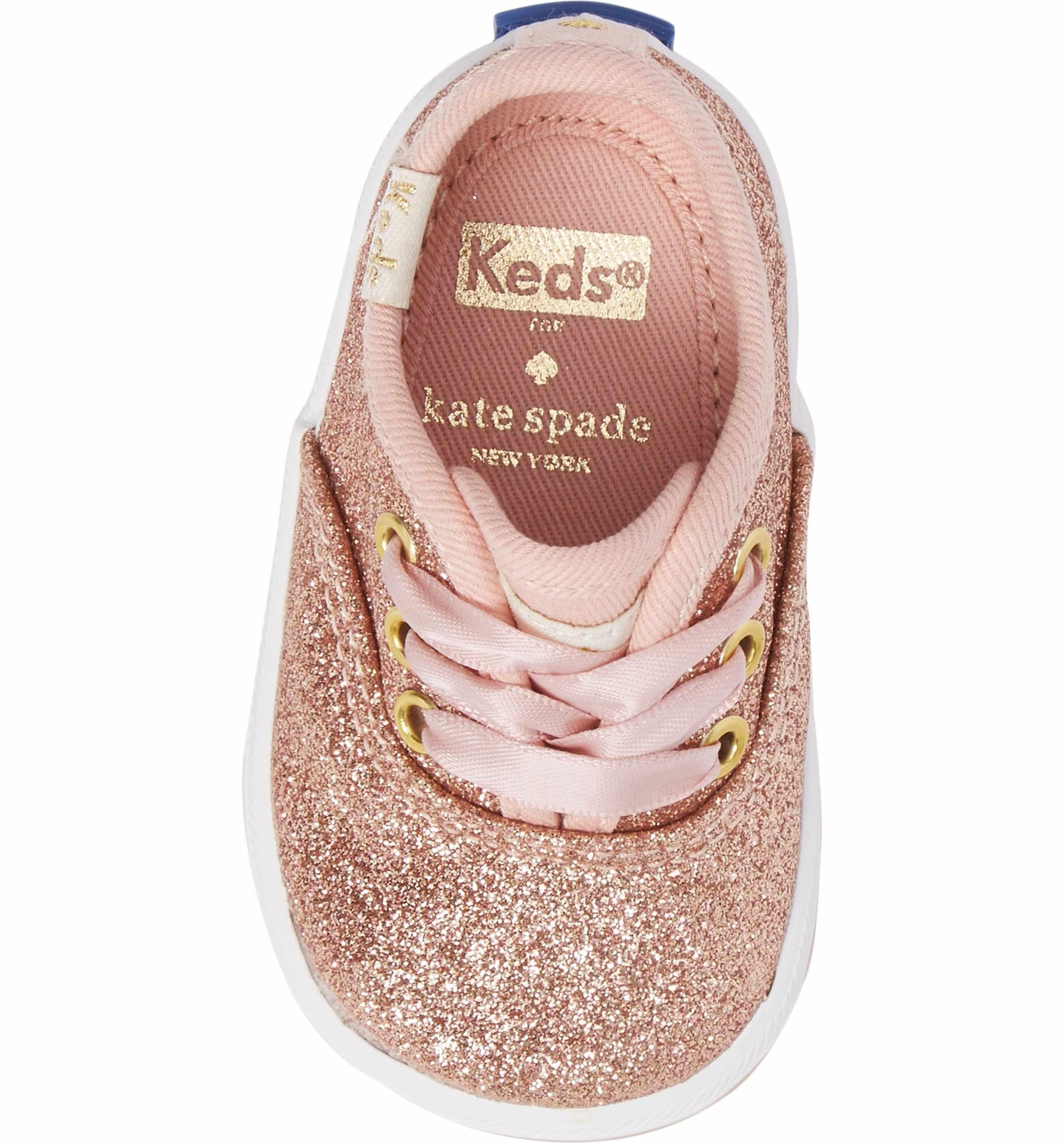 09cec0e20460 Main Image - Keds® x kate spade new york Champion Glitter Crib Shoe (Baby)