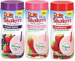 Dole Shakers printable coupon Walmart sale