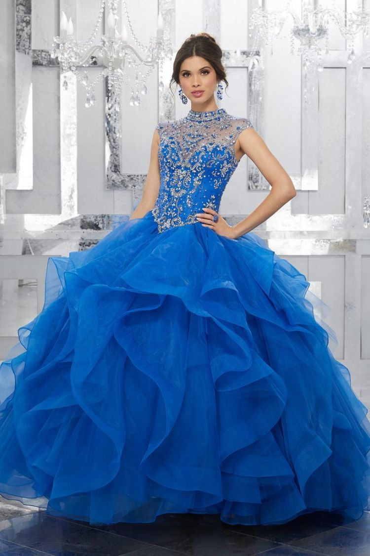 bee3cb6531131 Colors available: Blush, Lilac, Royal, White. Sizes Available: 0-28. Satin  Tulle with Embroidery and Beading. Quinceanera Dresses 15 Dresses by  Madeline ...