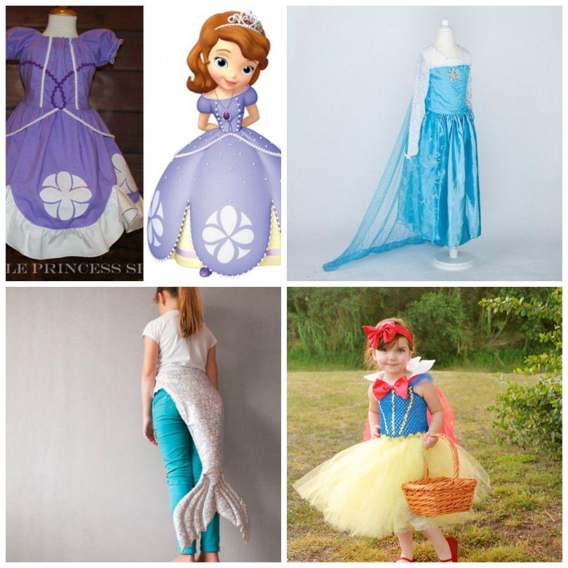 Princess costumes for Halloween!