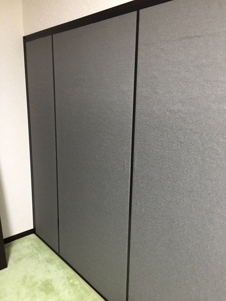ふすま部分の防音 仕切りにもなり隣との音もれ防いでプライベート空間