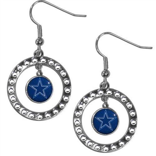 Dallas Cowboys NFL Rhinestone Hoop Earrings
