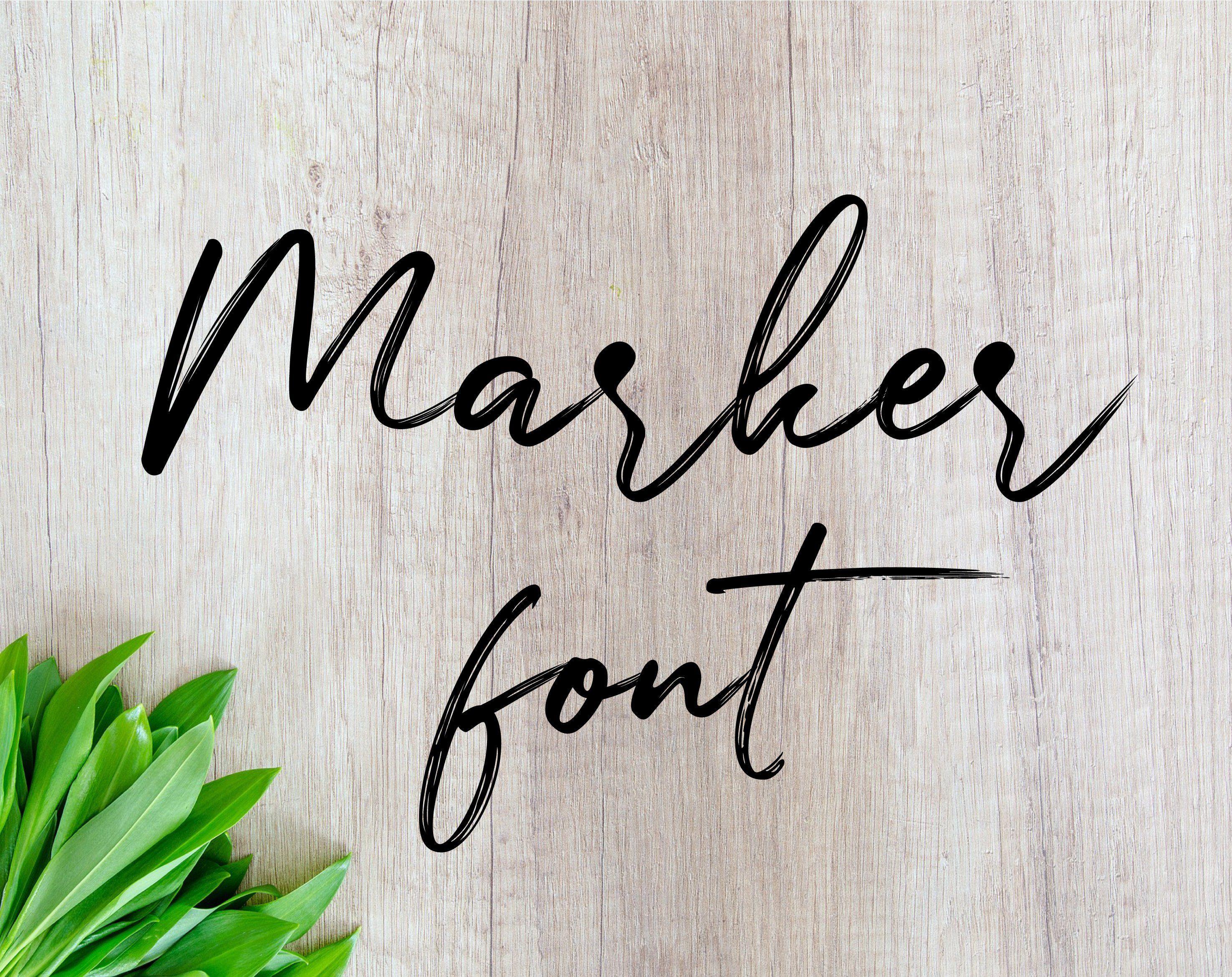 Download marker font otf Alphabet SVG Fonts Cutfile SVG Cricut Font ...