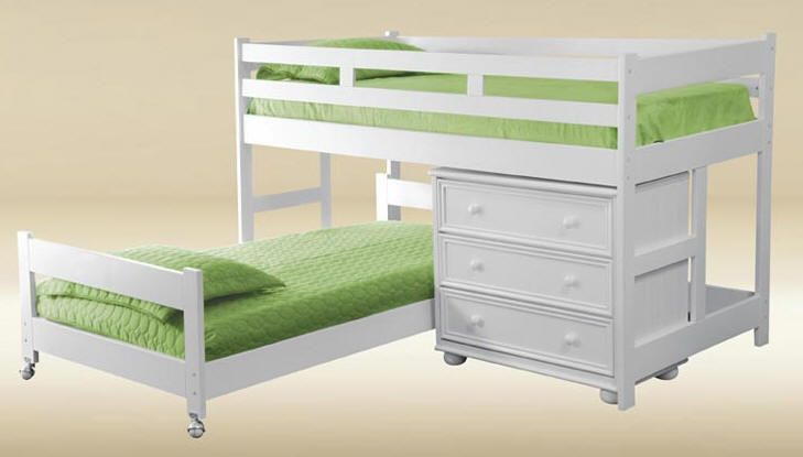For Ted To Make For The Girls Room Low Bunk Bed L Shaped