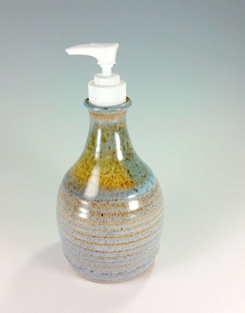 Pottery soap dispenser pump, ceramic lotion pump, stoneware soap ...