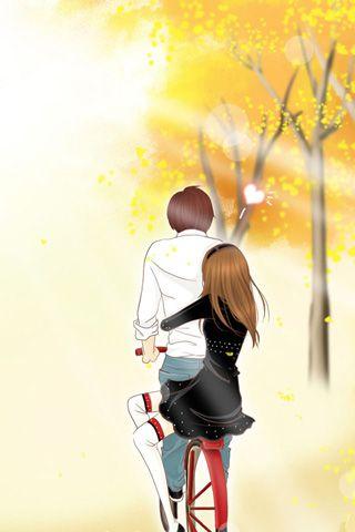 cute couple cartoons wallpapers 5 jpg 320 480 cartoon love