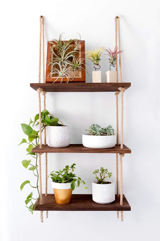 Luxury Wall Hanging Storage Rack Shelf Wood Shelves Home Room DIY Decoration UK