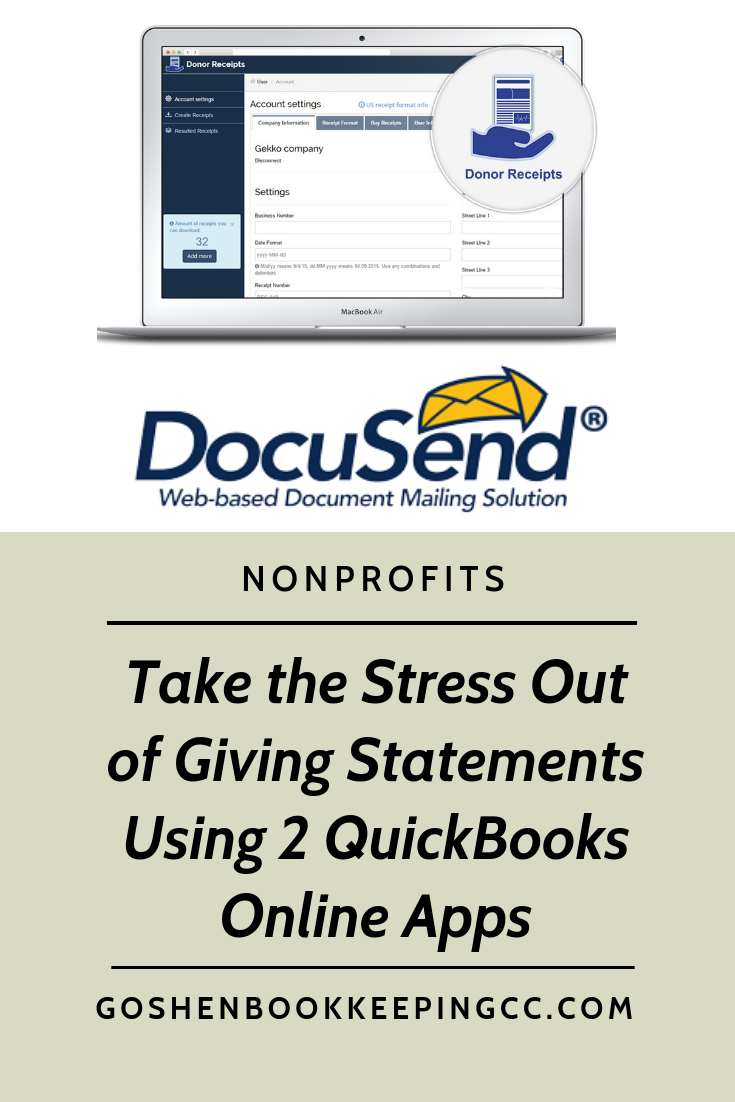 Create branded giving statements using Donor Receipts and
