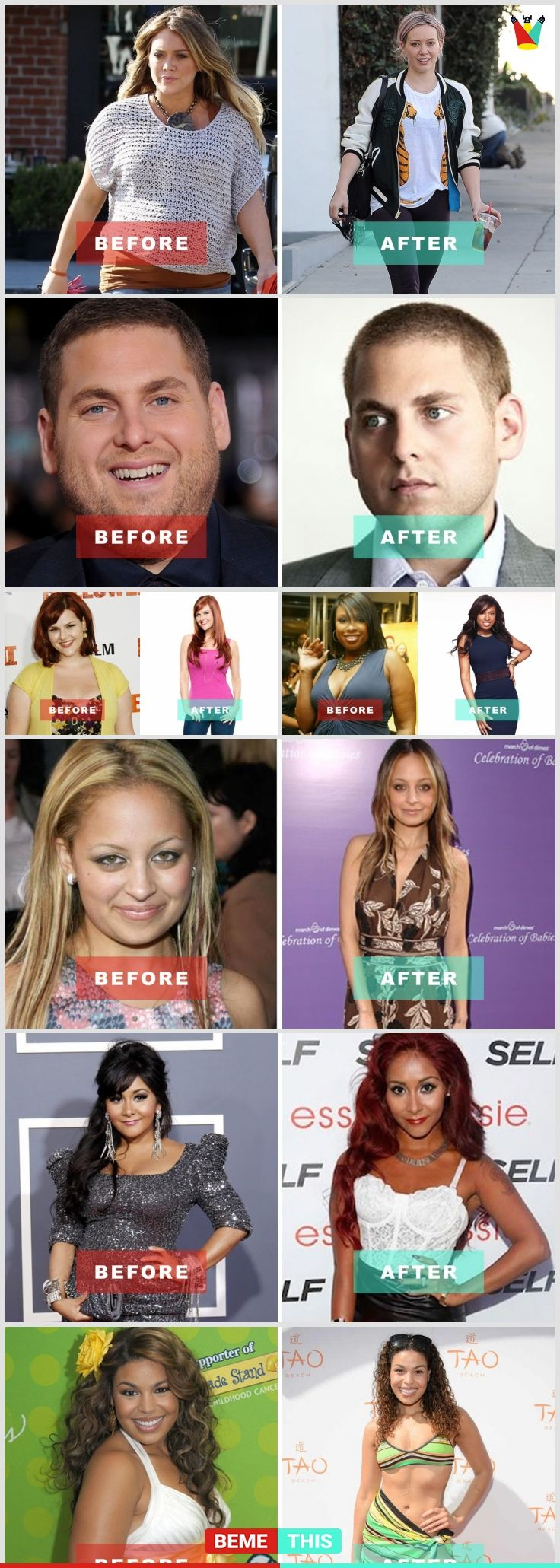 incredible celebrities' transformations that will amaze you