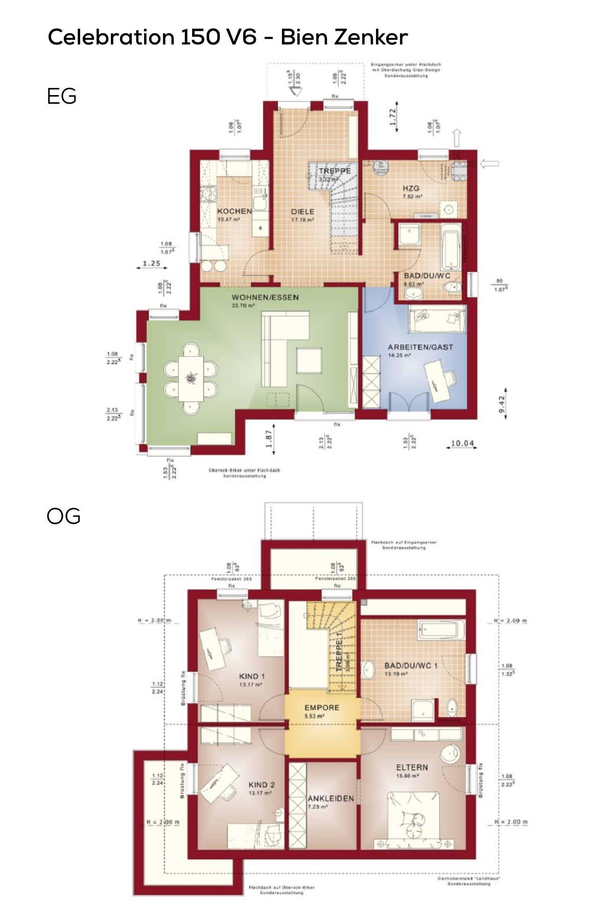 haus grundriss mit satteldach und erker anbau fertighaus 5 zimmer k che separat treppe. Black Bedroom Furniture Sets. Home Design Ideas
