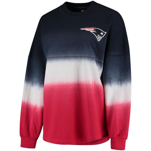 Women s New England Patriots NFL Pro Line by Fanatics Branded Navy Red Spirit  Jersey Long Sleeve T-Shirt - NFLShop.com c2cf9ae35