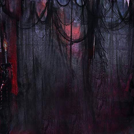 Black Creepy Cloth, Spooky Halloween Decorations for Haunted Houses