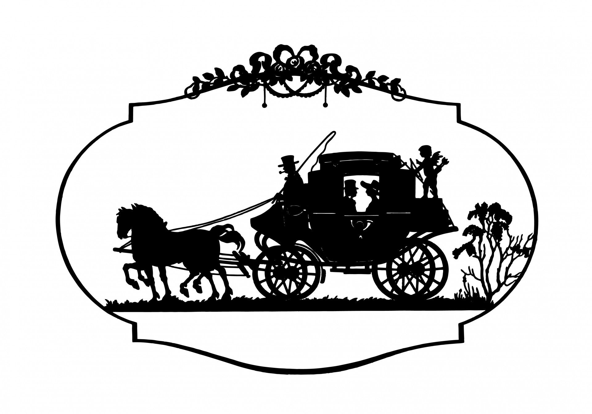 Horse Carriage Vintage Clipart Free Stock Photo Hd Public Domain
