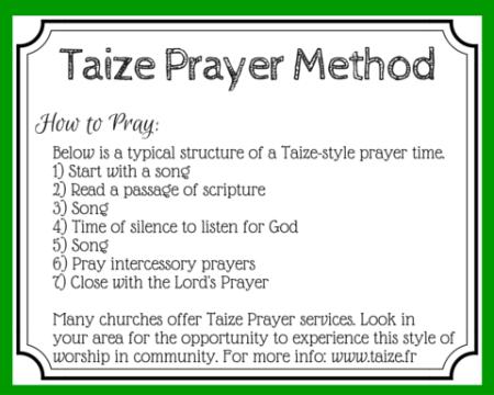 Taize Prayer Meditative Prayer Through Music Contemplative Prayer Prayer Stations Prayers