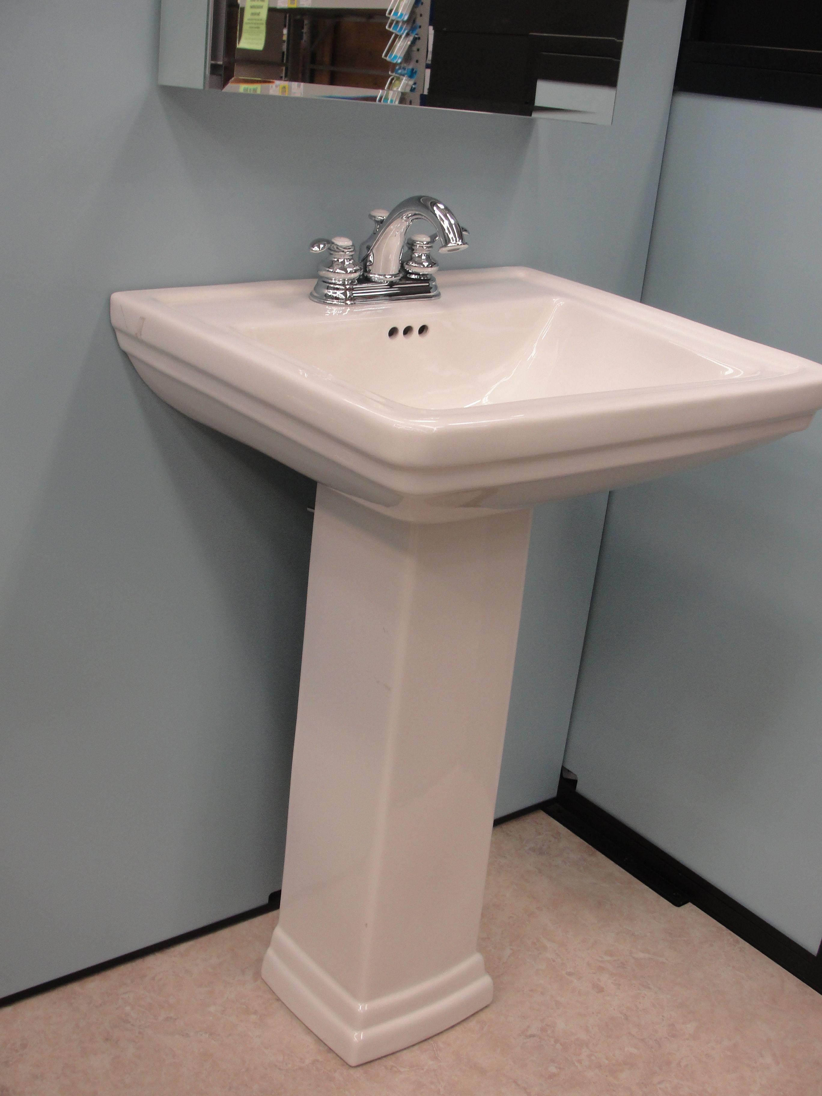 Pedestal sink. | Pedestal sink, Bath inspiration, Sink