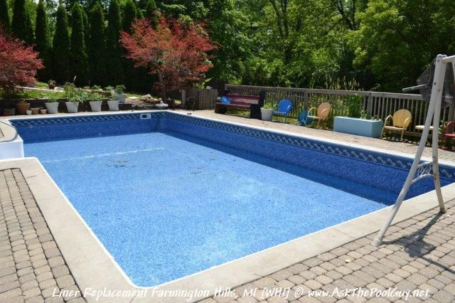 pool liner mosaic pool