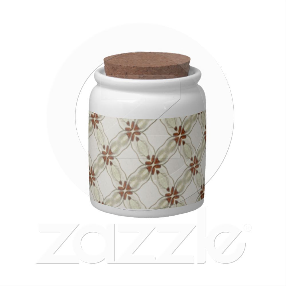 Cute country pattern candy jar from zazzle everything shabby