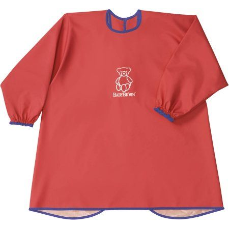 BabyBjorn Eat & Play Smock, Girl's, Red