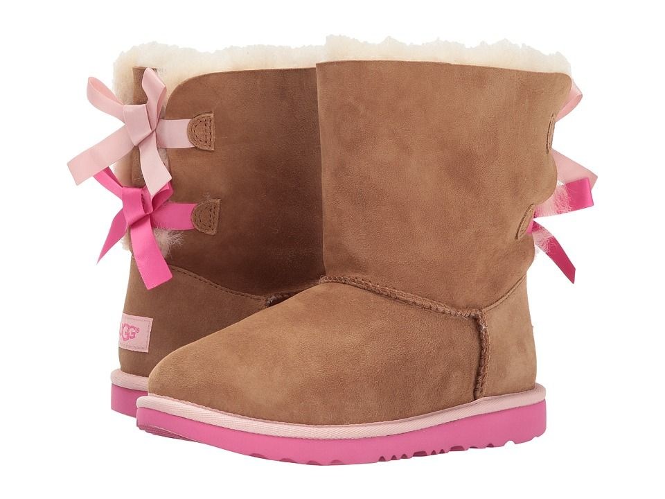 8e4fdb02596 UGG Kids Bailey Bow II (Little Kid/Big Kid) Girls Shoes Chestnut ...