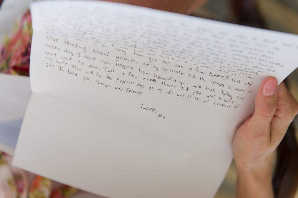 Love Letter To Bride From Groom On Wedding Day Bridal Style