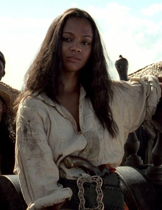 Anamaria Pirate Woman Zoe Saldana Pirates Of The Caribbean