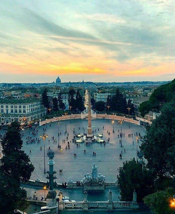 Piazza del Popolo vista dalla Terrazza del Pincio | Roma | Pinterest ...