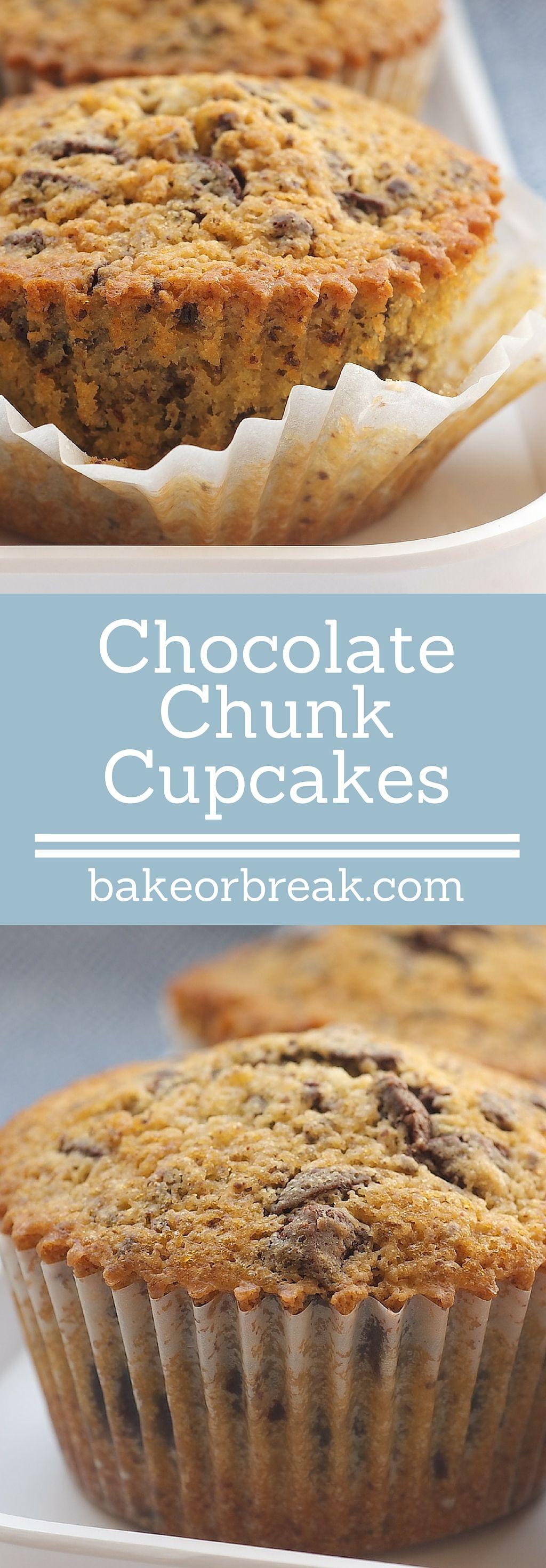 Chocolate Chunk Cupcakes   Recipe   Chocolate, Cake and Tarts