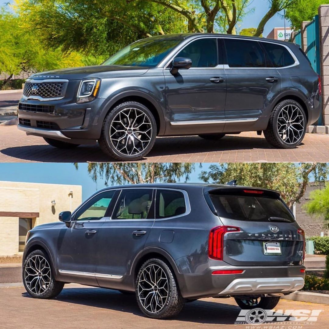 Kia Telluride On Instagram Kia Telluride With Custom Wheels Repost Wheelspecialistsinc Kiatelluride Giveiteverything In 2020 Custom Wheels Kia Hyundai Cars
