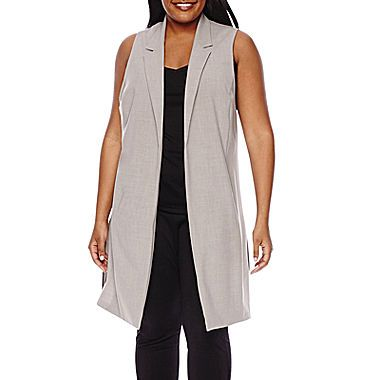 jcp | Boutique+ Long Vest - Plus